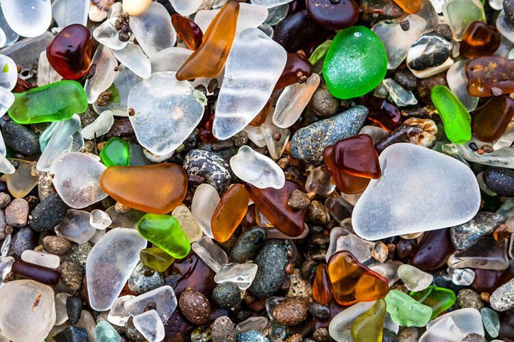 Glass Beach of Fort Bragg