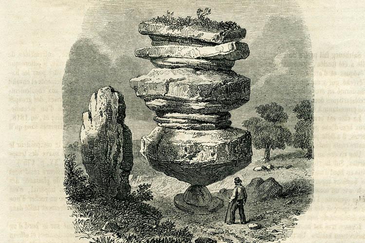 The Idol Rock of Brimham Moor circa 1853