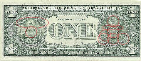 !3's on the Dollar Bill