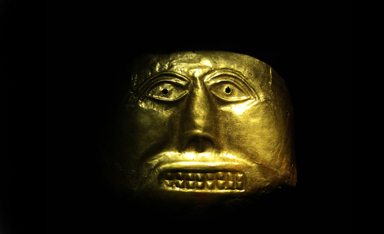 Ancient Electricity Gold Mask