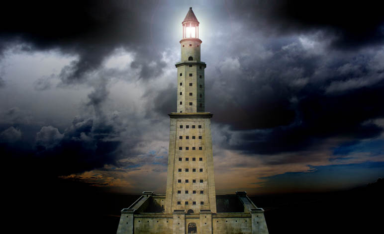 Ancient Electricity Pharos Lighthouse