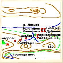 Dyatlov Team - Location of Bodies