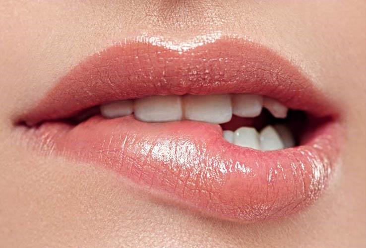 Female Body Language Lip Nibble