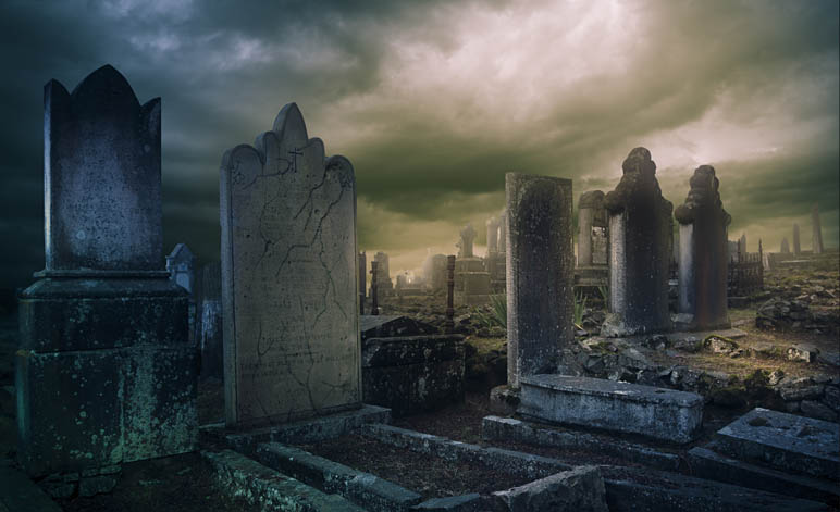 Ghosts and Hauntings Graveyard