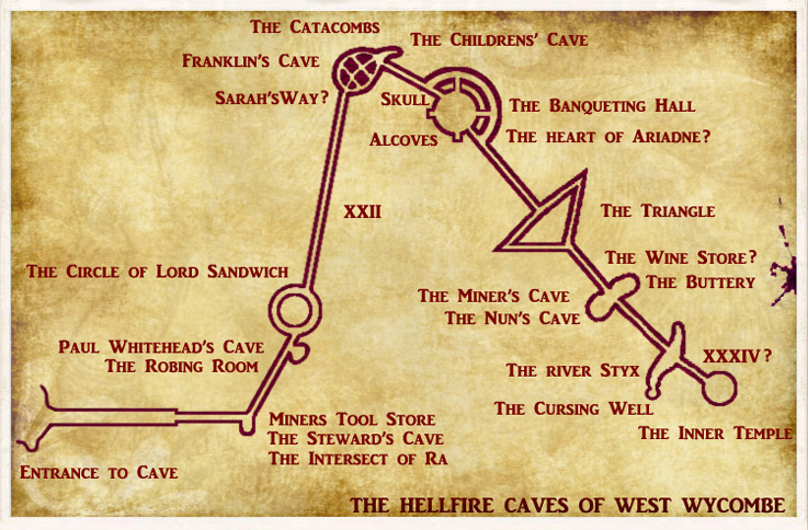 Map of the Hellfire Caves