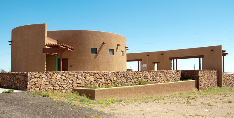 The dedicated observation centre for use of visitors wanting to observe the Marfa Lights.