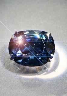 Hope Diamond in Smithsonian Museum