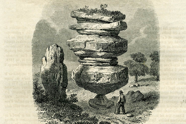 The Idol Rock of Brimham Moor circa 1853