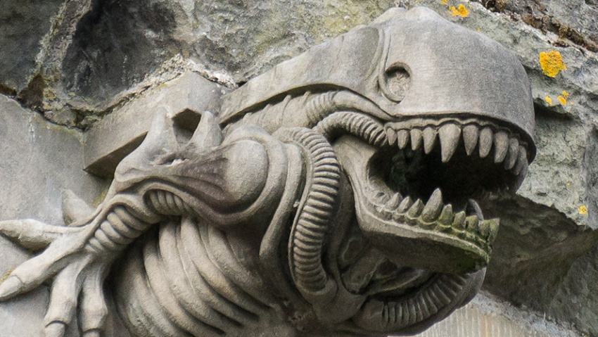 Alien Gargoyle of Paisley Abbey