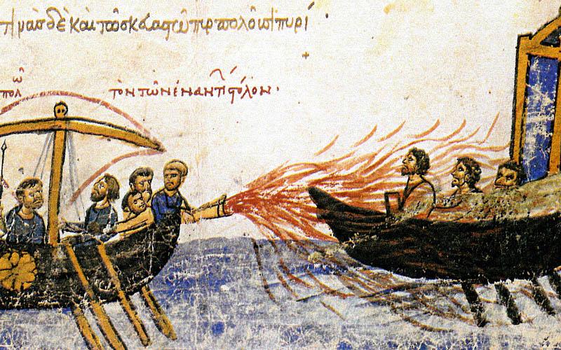 Greek Fire Painting