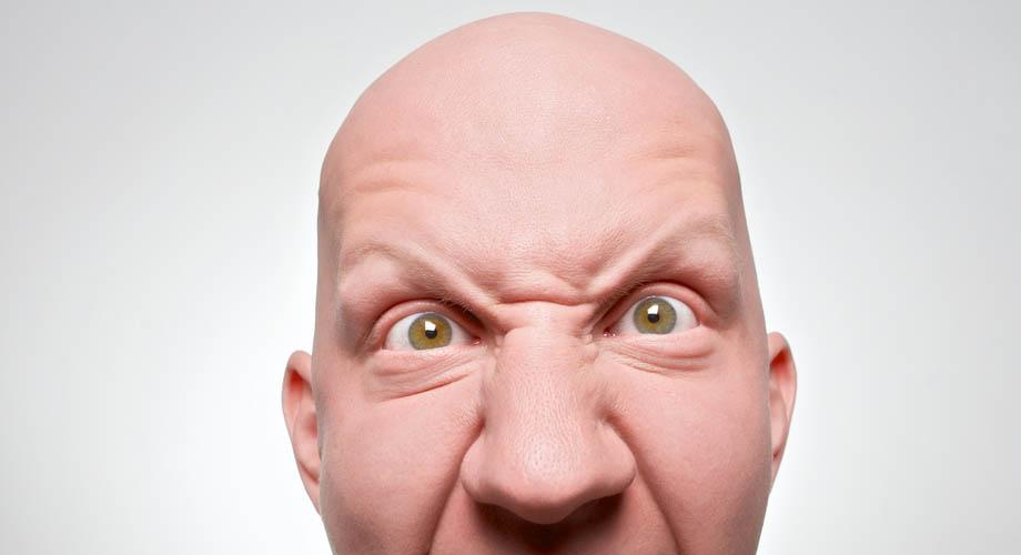 Facial expressions denoting anxiety