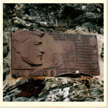 Dyatlov Pass Memorial Plaque