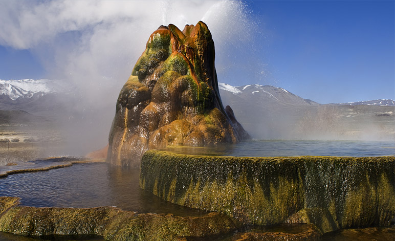 Fly Geyser Nevada Pools