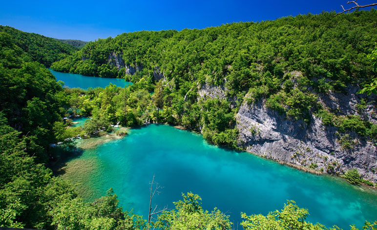 Plitvice Lakes National Park Twin Lakes