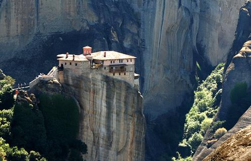 Strange Homes Roussanou Monastery