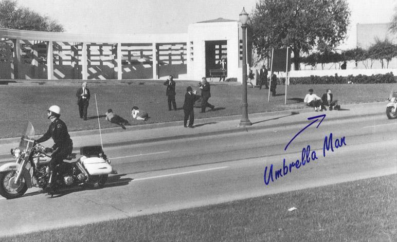 JFK Umbrella Man after Shooting