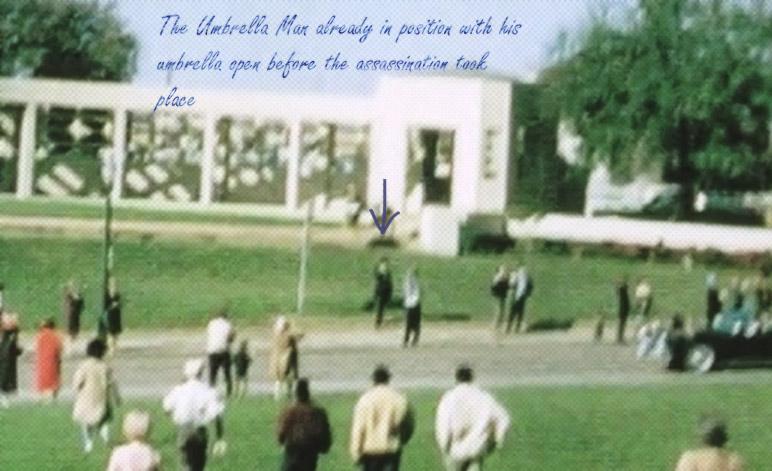 The Umbrella Man Standing Before Assassination